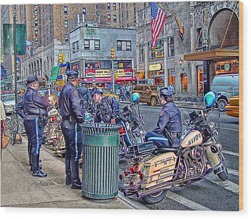 Nypd Highway Patrol Wood Print by Ron Shoshani