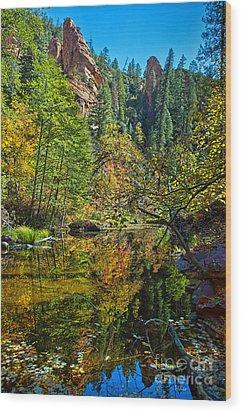 Oak Creek Beauty Wood Print by Brian Lambert