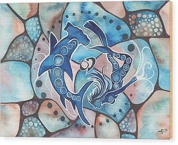 Ocean Defender Wood Print by Tamara Phillips