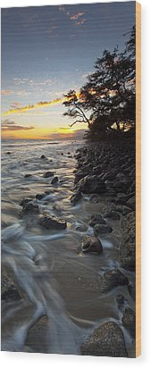 Ocean Flow Wood Print by James Roemmling