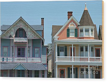 Ocean Grove Gingerbread Homes Wood Print by Anna Lisa Yoder