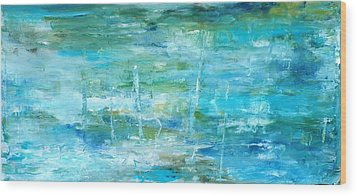 Ocean I Wood Print by Tia Marie McDermid