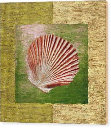 Ocean Life Wood Print by Lourry Legarde