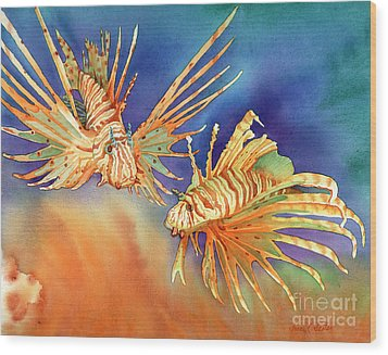 Ocean Lions Wood Print by Tracy L Teeter