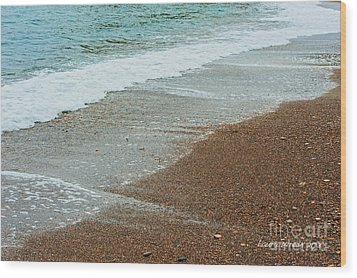 Ocean Wave Color Palette Wood Print by Artist and Photographer Laura Wrede