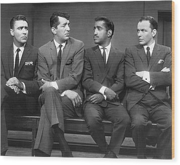 Ocean's Eleven Rat Pack Wood Print by Underwood Archives