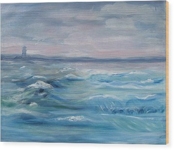 Oceans Of Color Wood Print by Diane Pape