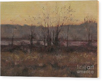 October Dusk Wood Print by Gregory Arnett