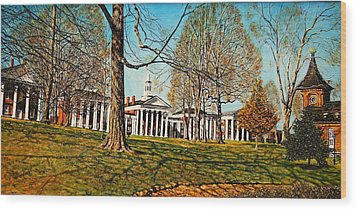 October Lawn Wood Print by Thomas Akers