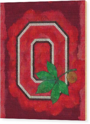 Ohio State Buckeyes On Canvas Wood Print by Dan Sproul