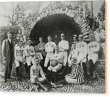 Ohio State Football Circa 1890 Wood Print by Jon Neidert