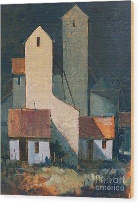 Oklahoma Feed Mill Wood Print by Micheal Jones