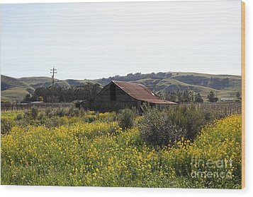 Old Barn In Sonoma California 5d22234 Wood Print by Wingsdomain Art and Photography