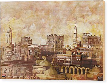 Old City Of Sanaa Wood Print by Catf