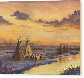 Old Friends New Stories Wood Print by Jeff Brimley