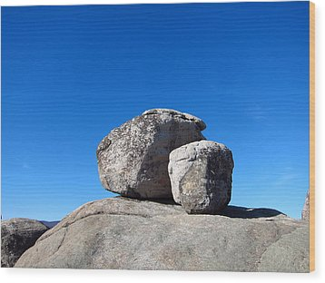 Old Rag Hiking Trail - 121240 Wood Print by DC Photographer