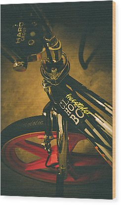 Old School Cool Bmx - 1 Wood Print by Jamian Stayt