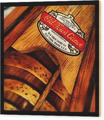 Old Town Wood Print by Jeff Klingler
