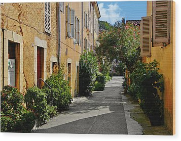 Old Town Of Valbonne France  Wood Print by Christine Till