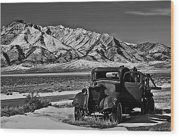 Old Truck Wood Print by Robert Bales