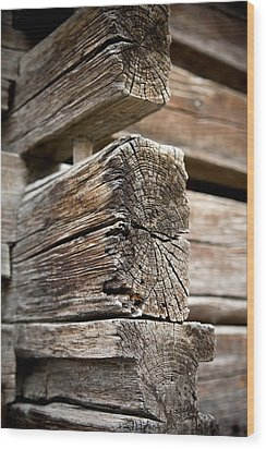 Old Wood Wood Print by Frank Tschakert