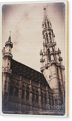 Old World Grand Place Wood Print by Carol Groenen