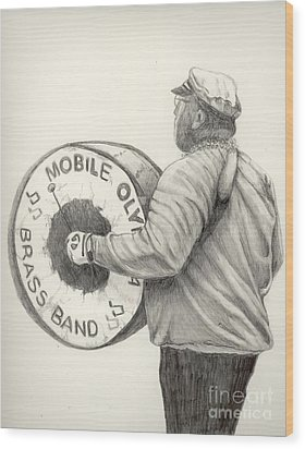 Olympia Brass Band Wood Print by Phyllis Henson