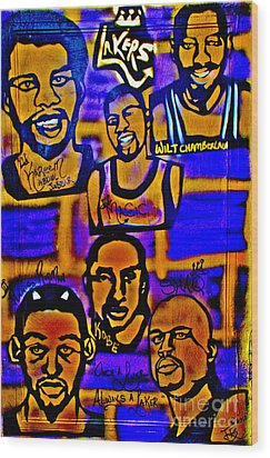 Once A Laker... Wood Print by Tony B Conscious