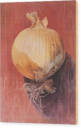 Onion Wood Print by Hans Droog