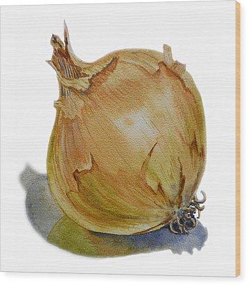 Onion Wood Print by Irina Sztukowski