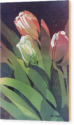 Only Three Tulips Wood Print by Kris Parins