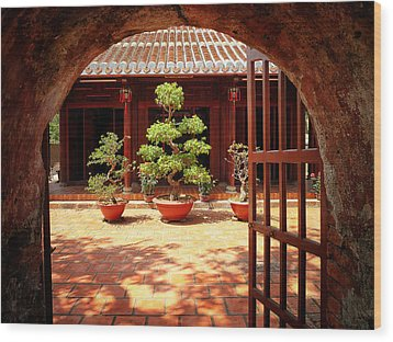 Open Gate Wood Print by Kim Andelkovic