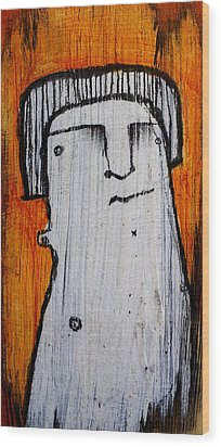 Or As Human As You Know It No 149 Wood Print by Mark M  Mellon