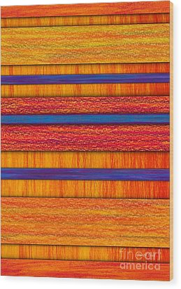 Orange And Blueberry Bars Wood Print by David K Small