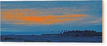 Orange Sunset Wood Print by Ben and Raisa Gertsberg