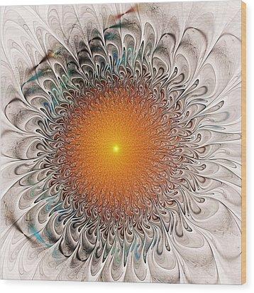 Orange Zone Wood Print by Anastasiya Malakhova