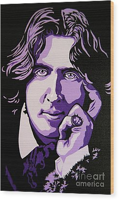 Oscar Wilde Wood Print by Rebecca Mott