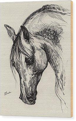 Ostragon Wood Print by Angel  Tarantella