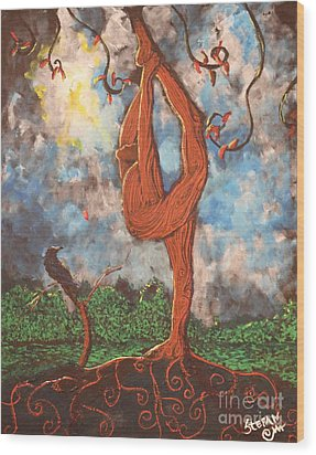 Our Dance With Nature Wood Print by Stefan Duncan