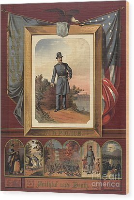 Our Police - Faithful Unto Death 1879 Wood Print by Padre Art