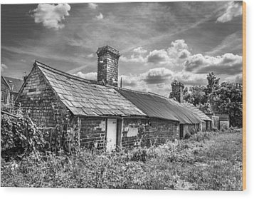 Outbuildings. Wood Print by Gary Gillette