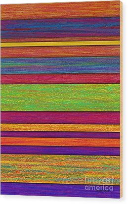 Overlay Stripes Wood Print by David K Small