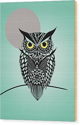 Owl 5 Wood Print by Mark Ashkenazi