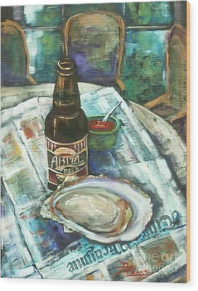Oyster And Amber Wood Print by Dianne Parks