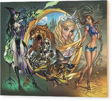 Oz 01a Wood Print by Zenescope Entertainment