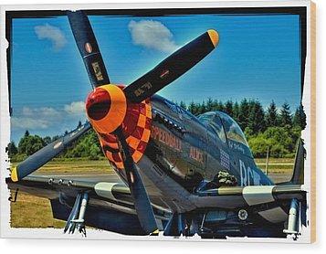 P-51 Mustang Wood Print by David Patterson