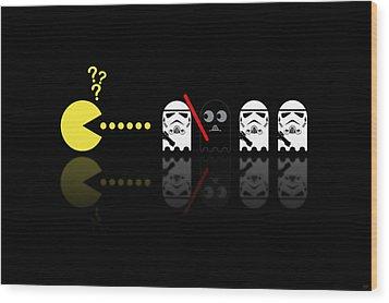 Pacman Star Wars - 1 Wood Print by NicoWriter