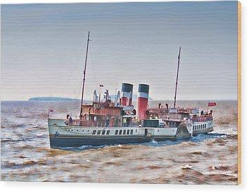 Paddle Steamer Waverley Wood Print by Steve Purnell