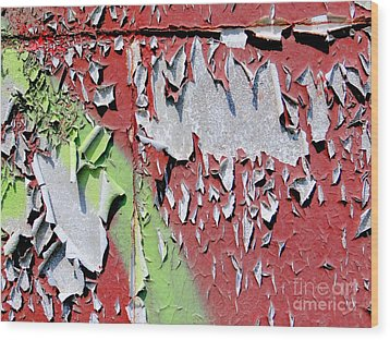 Paint Abstract Wood Print by Ed Weidman