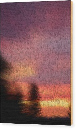 Painted Evening Wood Print by Kevin Bone